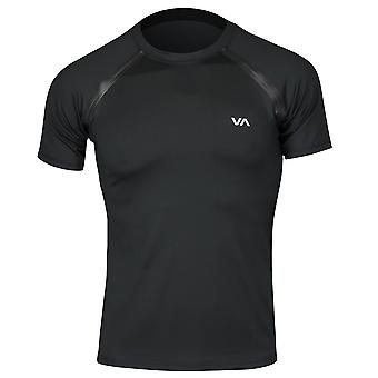 RVCA Mens VA Sport SS Compression Training Shirt - Black