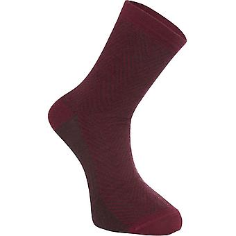Madison Herringbone-Classy Burgundy Assynt Merino Long MTB Socks
