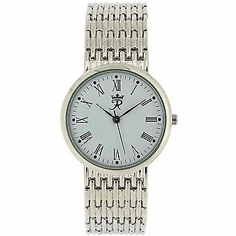 Realm Gents Round Quartz Analogue Silver Tone Mens Bracelet Strap Watch RB-63G