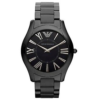 Emporio Armani Ar2065 analógico mostrador preto Men ' s Watch