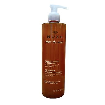 Nuxe Face and Body Ultra Rich Cleansing Gel Dry & Sensitive Skin 13.5 OZ