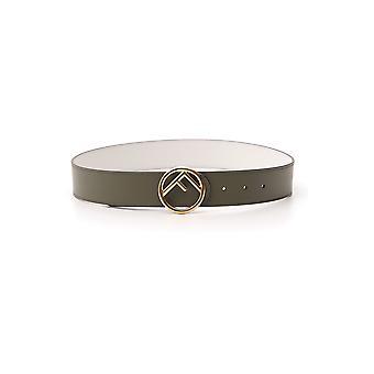 Cinturón de cuero verde Fendi