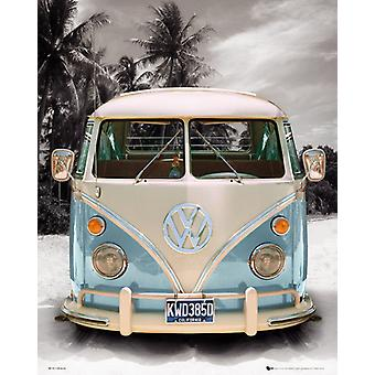 VW Camper Beach Mini-Poster 40x50cm