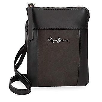 Shoulder Bag Pepe Jeans Double Black