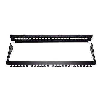 Patch Panel 24 UTP-Ports Kategorie 5e/6/6E WP WPC-PAN-BUP24 schwarz