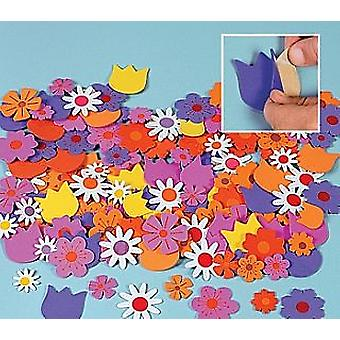 500 Flower Themed Foam Stickers for Kids Crafts | Flower Garden Crafts