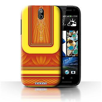 STUFF4 Case/Cover voor HTC Desire 608t/oranje/geel/Custom Paint Job