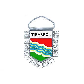 Fanion Mini Drapeau Pays Voiture Decoration Souvenir Blason Tiraspol Moldavie