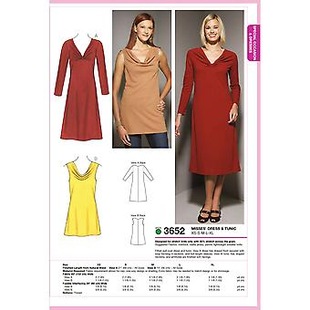 Dress And Tunic  Xs  S  M  L  Xl Pattern K3652