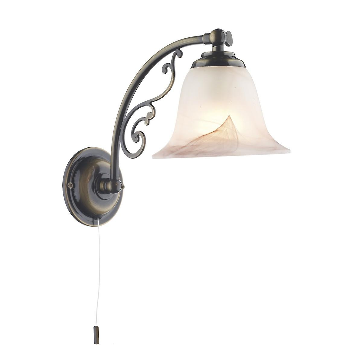 David Hunt CW10ABP Campden Single Wall Light In An Antique Brass Finish - Bracket Only