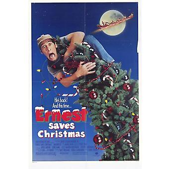 إرنست ينقذ عيد الميلاد فيلم طباعة ملصق (27 × 40)