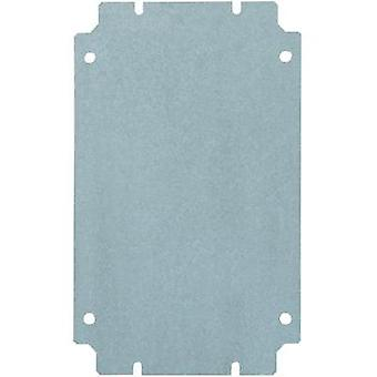 Rittal 1564.700 Mounting Plate For Terminal Boxes (L x W) 400 mm x 200 mm Galvanised steel sheet