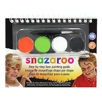 Snazaroo Halloween 2 Step A6 Guide Booklet with 4 Face Paints & Brush
