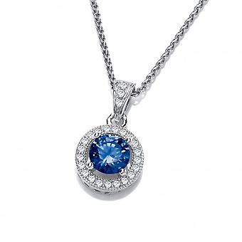 Cavendish French Tanzanite Cubic Zirconia Porthole Pendant