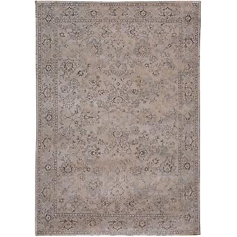 Distressed Antique White Floral Flatweave Rug - Louis de Poortere