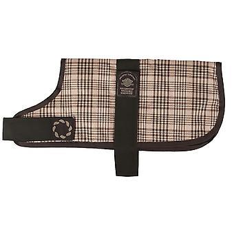 Padded Waterproof Coat Brown Check 30.5cm (12