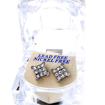 Iced Out Bling Ohrstecker Box - 3x3 ICE