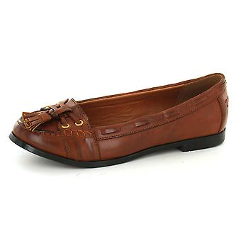 Ladies Spot On Flat Loafer Style Shoe with Tassel Vamp