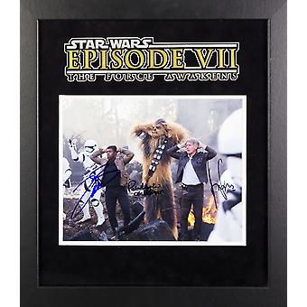 Star Wars - Signed The Force Awakens Movie Photo - Framed Artist Series