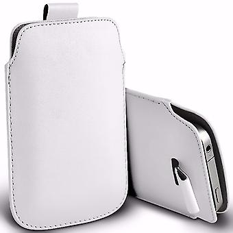 i-Tronixs Premium Stylish Faux Leather Pull Tab Pouch Skin Case Cover For Micromax Canvas Fire 5 Q386 (5.5