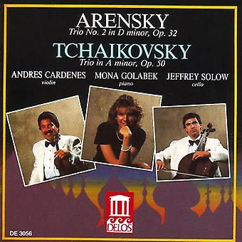 Arensky/Tchaikovsky - Arensky: Trio No. 2 in  D Minor, Op. 32; Tchaikovsky: Trio in a Minor, Op. 30 [CD] USA import
