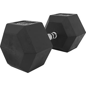Hexagon Kurzhantel Gummi 47,5 kg