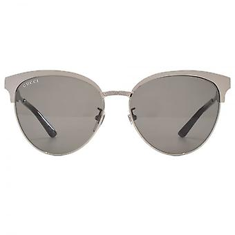 Gucci Metal Cateye Sunglasses In Ruthenium