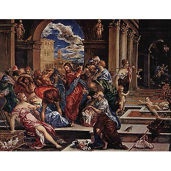 El Greco - In the Temple Poster Print Giclee