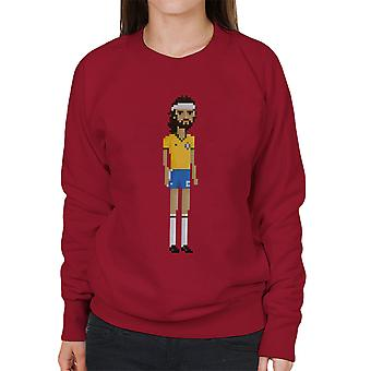 Pixel Socrates Footballer Women's Sweatshirt