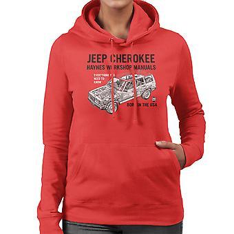 Haynes Besitzer Workshop manuelle Jeep Cherokee schwarz Damen Sweatshirt mit Kapuze
