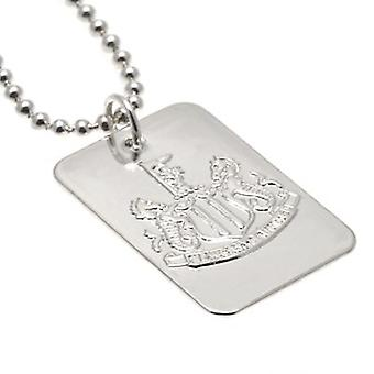 Newcastle United Silver Plated Dog Tag & Chain