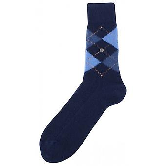 Burlington Preston Argyle Socks - Navy/Blue