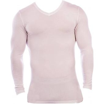 Obviously Essence V-Neck Long Sleeve Undershirt - White