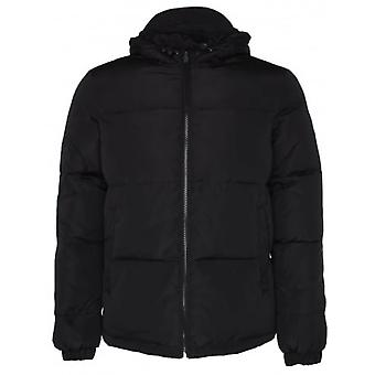 Versace Jeans Nylon Hooded Black Jacket