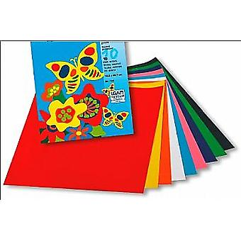 Gummed Paper for Kids Crafts - 10 Mid Sized Sheets | Coloured Card for Crafts