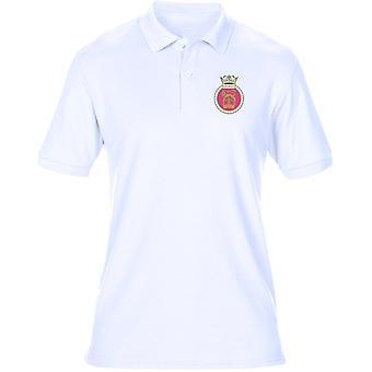 HMS Sovereign Embroidered Logo - Official Royal Navy Mens Polo Shirt