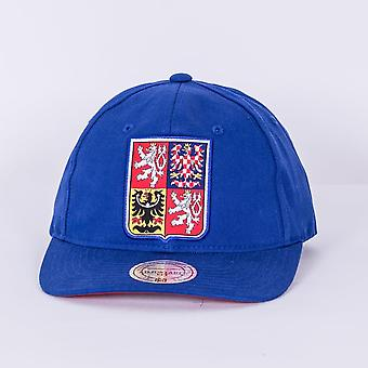 Mitchell & Ness World Cup Of Hockey Team Czech Republic Blue Adjustable Backstrap Cap