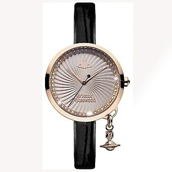 Vivienne Westwood Vivienne Westwood Vv139rsbk Bow Rose Gold & Black Leather Ladies Watch