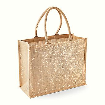 Westford Mill Metallic Shimmer Jute Shopper/Tote Bag