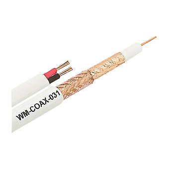 Siamese coaxial cable, RG45, 100 m, copper foiling, we