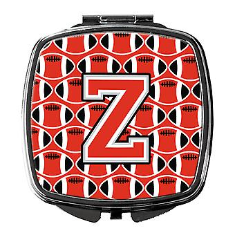 Letter Z Football Scarlet and Grey Compact Mirror