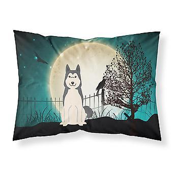 Halloween miedo oeste siberiano Laika Spitz tela estándar funda de almohada
