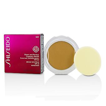 Shiseido Sheer & Perfect Compact Foundation SPF 21 (Refill) - # B60 Natural Deep Beige - 10g/0.35oz