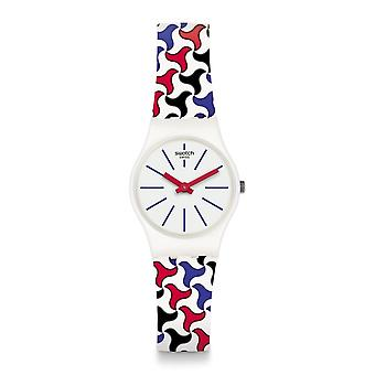 Swatch Lw156 Pattu White Patterned Silicone Watch