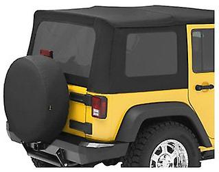 Bestop 58130-35 noir Diamond Tinted Window Kit for Bestop Sailcloth Replace-A-Top for 2007-2010 Wrangler JK Unlimited