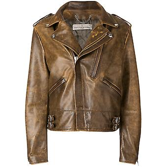 Golden Goose women's G32WP037A1 brown leather jacket