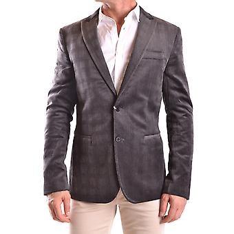 Bikkembergs men's MCBI042014O grey cotton Blazer