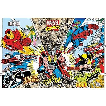 Marvel Comics - Rays of Characters Poster Poster Print