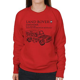 Haynes Owners Workshop Manual 3017 Land Rover Defender Black Women's Sweatshirt