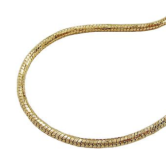 Round snake chain gold plated 60cm necklace